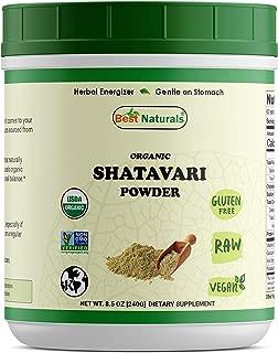 Best Naturals Certified Organic Shatavari Powder 8.5 OZ (240 Gram), Non-GMO Project Verified & USDA Certified Organic