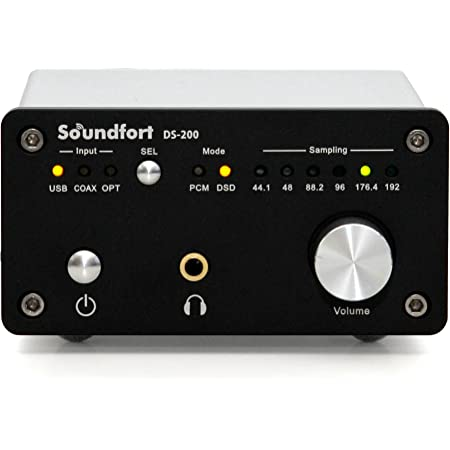 Soundfort DS-200: ハイパフォーマンスUSB DAC(32bit/192kHz, DSD5.6MHz対応/多彩なデジタル入出力) ヘッドフォンアンプ搭載