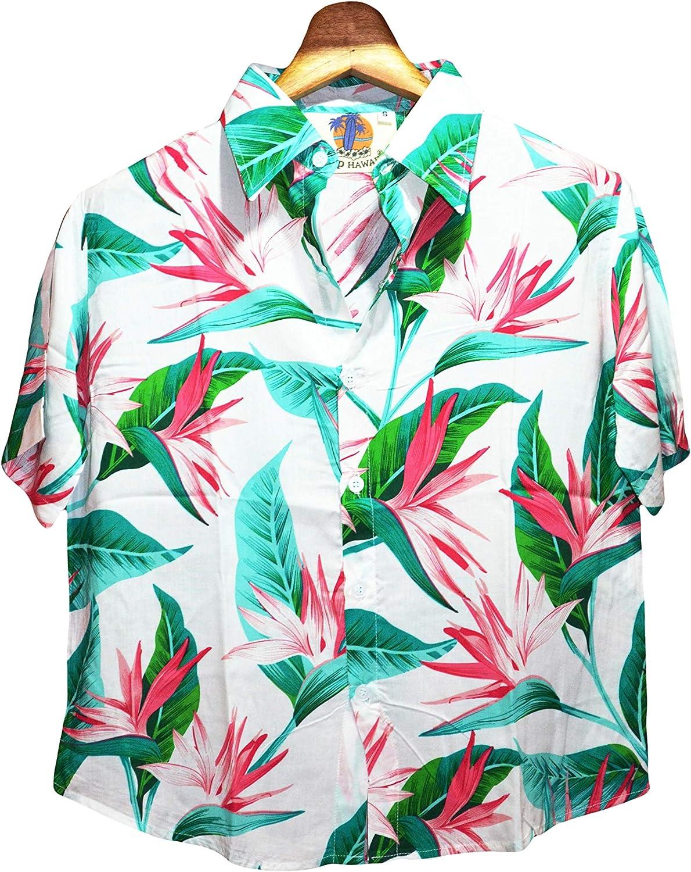 GL BOUTIK Camisa Hawaiana para Mujer - Manga Corta ...