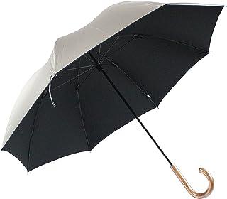 日光を遮断! 晴雨兼用 日傘 丈夫で高級な軽量カーボン骨×シルバー生地×直径116cmのMサイズ UV99%以上カット UPF50+ 65cm 手開き傘 (65cm)