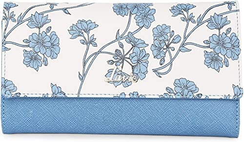 Halley Large Trifold Slip Zip 3 Women s Wallet Blue