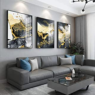 Abstract Paintings Gold Luxury Large Wall Art For Living Room Home Decoration Canvas Wall Art Prints framed Pictures 40x50...