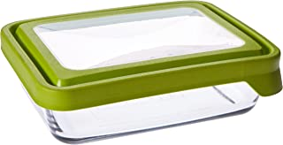 Anchor Hocking 6-Cup Rectangular Food Storage Containers with Green TrueSeal Airtight Lids