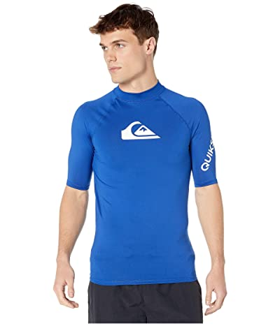 Quiksilver All Time Short Sleeve Rashguard (Electric Royal) Men