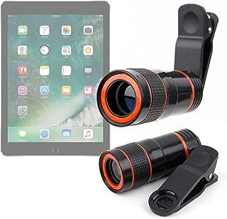 DURAGADGET Pocket Sized Miniature Telephoto Zoom Lens Clip Kit - Compatible with Apple iPad Pro | iPad Air 2 | Air | Mini 3 | Mini 2 | Mini | 1st - 4th Generation