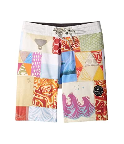 VISSLA Kids Quiltage Boardshorts (Big Kids) (Bone) Boy