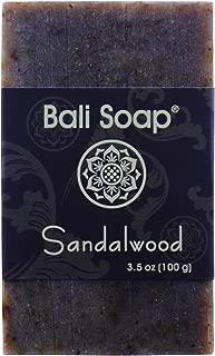 Bali Soap - Sandalwood Natural Soap Bar, Face or Body Soap Best for All Skin Types, For Women, Men & Teens, Pack of 3, 3.5 Oz each