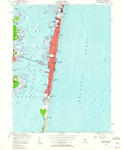 New Jersey Maps - 1953 Seaside Park, NJ USGS Historical Topographic Map - Cartography Wall Art - 44in x 55in