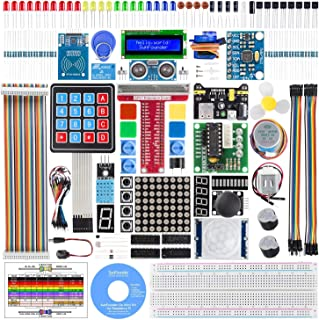 SunFounder Raspberry pi スターター電子工作キット,ラズベリーパイ初心者向けプログラミング,詳細な教本と豊富な学習用レッスン付き,Raspberry pi 4B/3B+/3B/3A+/2B/1B+/1A+/Zero W/Zeroに対応、C/Pythonコードをサポート