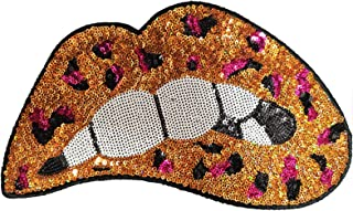 Nature Gold Applique Crafts Badge Patches HD136 Sequin Feathers Iron On Patch