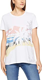 French Connection Women's HERE Comes The Sun TEE, Summer White/Multi