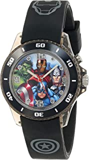 Marvel The Avengers Kids' AVG3508 Watch with Black Rubber...