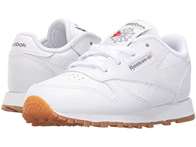 Reebok Kids Classic Leather Gum (Infant/Toddler) (White/Gum) Kids Shoes