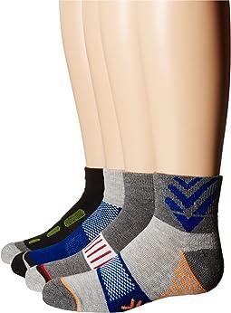 Tech Sport Half Cushion Quarter Socks 6-Pair Pack (Toddler/Little Kid/Big Kid/Adult)
