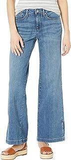 NYDJ Women's Petite Wide Leg Trouser Jeans with Side Slits