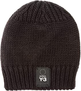 Y-3 Mens Knit Beanie in Black