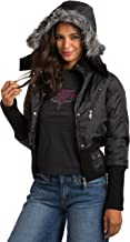 Sweet Vibes Junior Womens Puffy Down Jackets Luxury Faux Fur Hood Wide Rib Waist