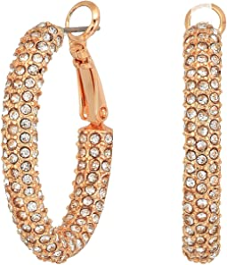 Pave Hinge Hoop Earrings