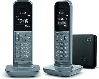 Gigaset CL390 DUO - Teléfono fijo inalámbrico para casa, pantalla iluminada, agenda 150 contactos, gris
