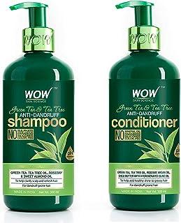 WOW Skin Science Green Tea Tree Shampoo + Green Tea Tree Conditioner - 600mL combo