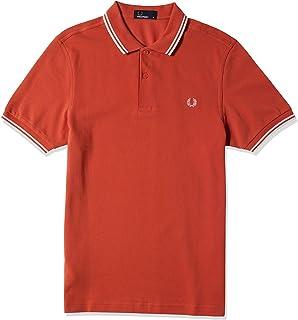 قميص فريد بيري رجالي مطبوع عليه TWIN TIPPED FRED PERRY
