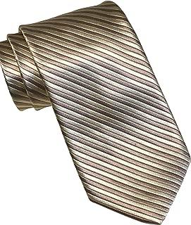 Carmel Gold Brown Striped Tie