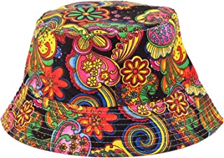 9a098c9a6288da Anjoy Fashionable Unisex Satin Lined Printed Pattern Cotton Bucket Hat