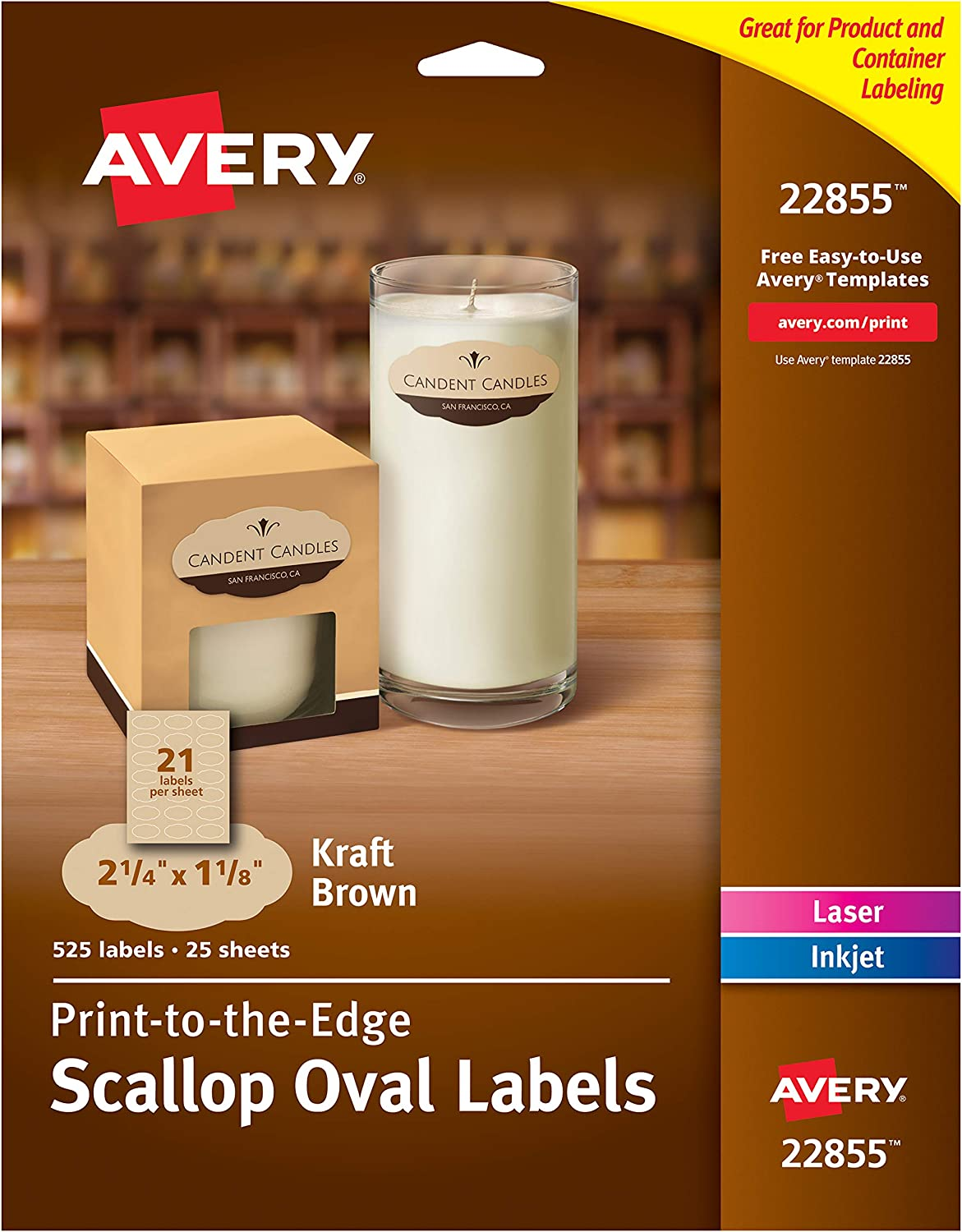 Avery Scallop Oval Labels for OFFicial shop Laser 2-1 Inkjet x Virginia Beach Mall 4