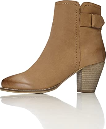 TALLA 36 EU. find. Casual Ankle Leather Boots - Botines Mujer