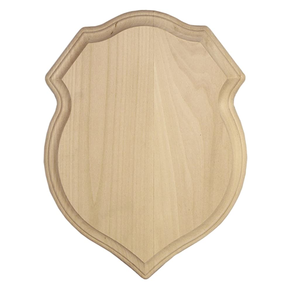 Walnut Hollow Basswood Shield Plaque, 9