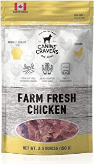 Canine Cravers Single Ingredient Dog Treats – Healthy and Nutritious Human Grade Air Dried Hypoallergenic Pet Food - Grain Free, Gluten Free and No Soy – 100% All Natural