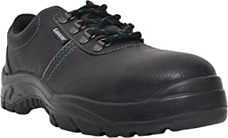 Lancer 108LA Men's Safety Shoe with Steel Toe Cap, Size-6 UK, Black