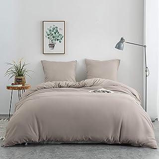 AYSW 14 Couleurs Parure de lit avec Housse de Couette 220 x 240 cm / 65 x 65 x 2 cm Parure 3 pieces pour 2 Personnes avec ...