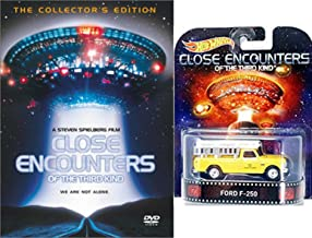 Close Encounters Special Edition DVD with Hot Wheels Retro Entertainment 1:64 DieCast Car Ford F-250 Truck Bundle