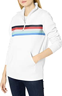 Amazon Essentials Long-Sleeve Lightweight French Terry Fleece Quarter-Zip Top Fleece-Outerwear-Jackets Mujer