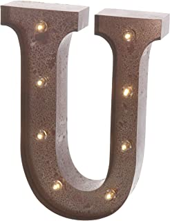galvanized metal lighted marquee letter