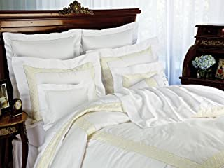Reverie Fitted Sheets, Fitted White Sateen (Queen, each)