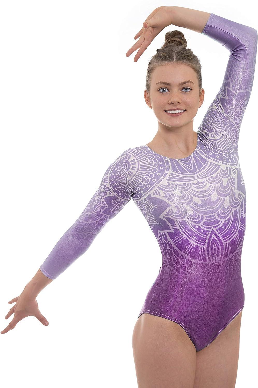 Velocity Dancewear Impulse Justaucorps de gymnastique /à manches longues pour fille