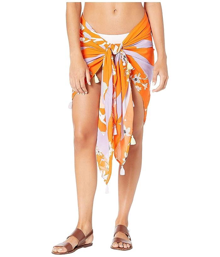 Maaji Enchanted Dreams Pareo Sarong Cover-Up (Mandarin Orange Floral) Women
