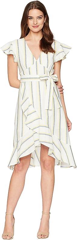 J.O.A. V-Neck Flare Dress