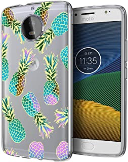 BAISRKE Moto G5s Plus Case, Moto G5S+ Plus Case with Pineapples Slim Shockproof Clear Floral Pattern Soft Flexible TPU Back Cove for Moto G5s Plus & G5S+ (2017) [Color]