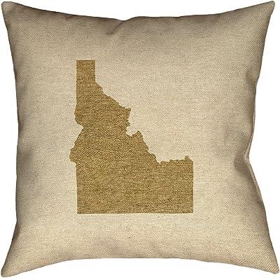 ArtVerse Katelyn Smith 20 x 20 Indoor//Outdoor UV Properties-Waterproof and Mildew Proof New York Pillow