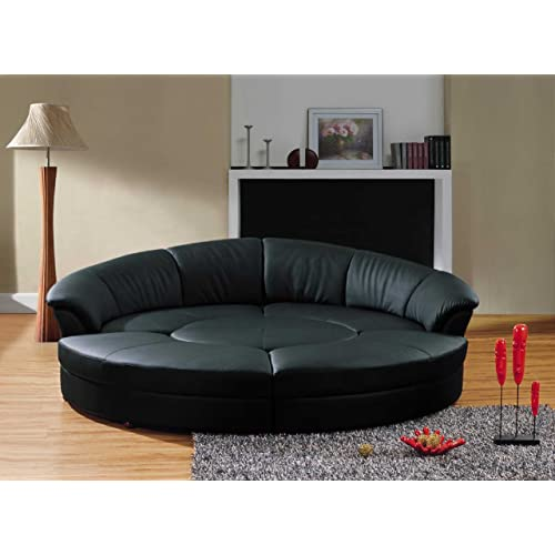 best service c9d6b 98df2 Small Curved Sectional Sofa: Amazon.com