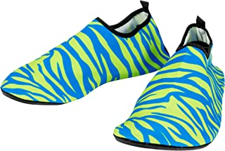 QTHINGS Leisure Sports Adult's Soft Shoes: 5 Colorful, Patterned, Flexible, Comfortable, Portable, Gym, Yoga, Beach, Cycling, or Running Footwear