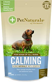 Pet Naturals - Calming for Dogs, Natural Behavior Support for Stress Inducing Events, 30 Bite-Sized Chews Includes Natural...
