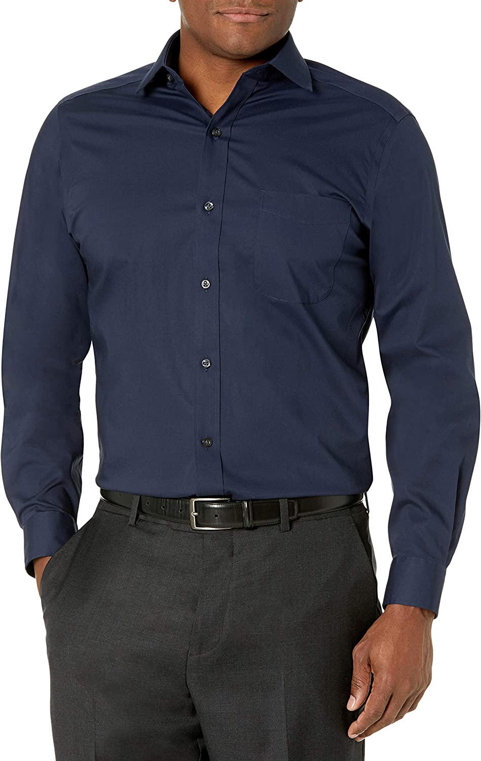 sale List price Buttoned Down Men's Tailored Fit Sup Poplin Dress Stretch Shirt