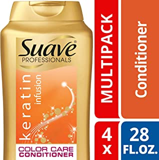 Suave Keratin Infusion Color Care Conditioner, 28 Fl Oz (Pack of 4)