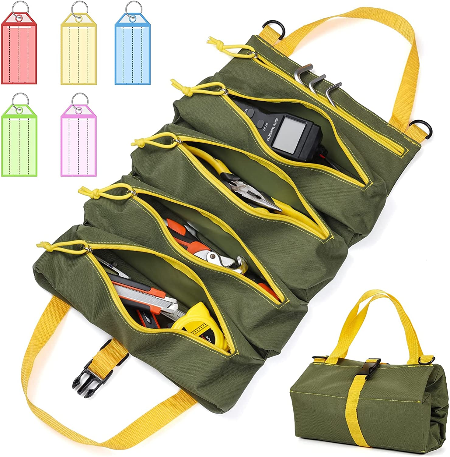 Max 78% OFF SDZFJT Roll Up Tool Bag Heavy Wrenc Duty Waterproof Canvas Max 58% OFF