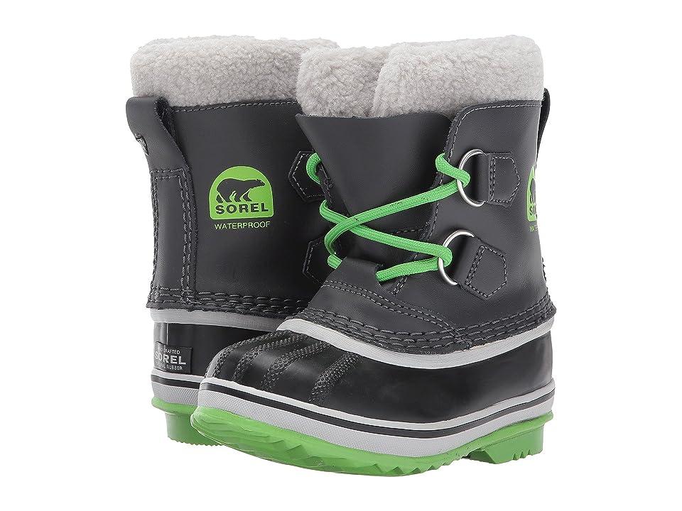 SOREL Kids Yoot Pac TP (Toddler/Little Kid) (Shark/Cyber Green) Boys Shoes