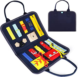 Busy Board,Apsung Toddlers Toy, Educational Learning Toys, Toddler Activity Board, Sensory Board, Suitable for Kid's Gift